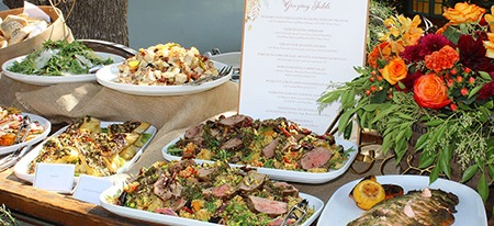 we can create a variety of menus for your office Christmas party